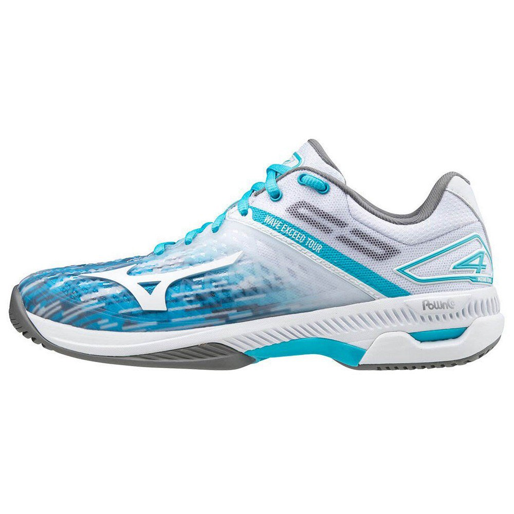 Mizuno Wave Exceed Tour 4 Ac EU 40 White / Scuba Blue / Quiet Shade