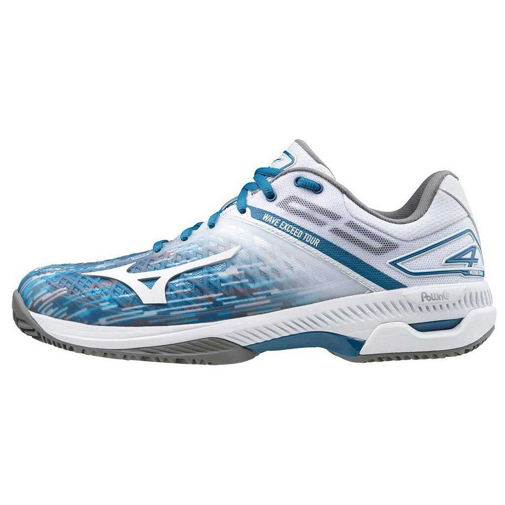 Mizuno Wave Exceed Tour 4 Cc EU 42 White / Scuba Blue / Quiet Shade