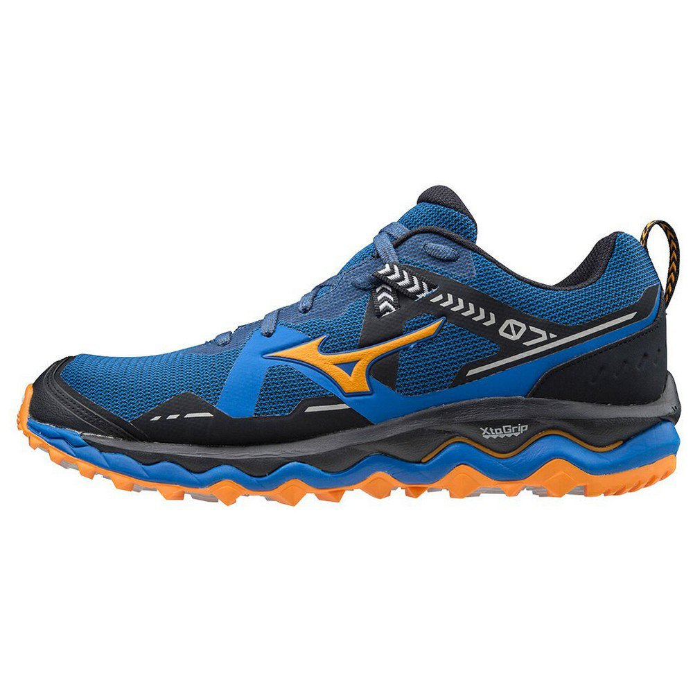 Mizuno Wave Mujin 7 EU 40 1/2 Princess Blue / Lunar Rock / Orange