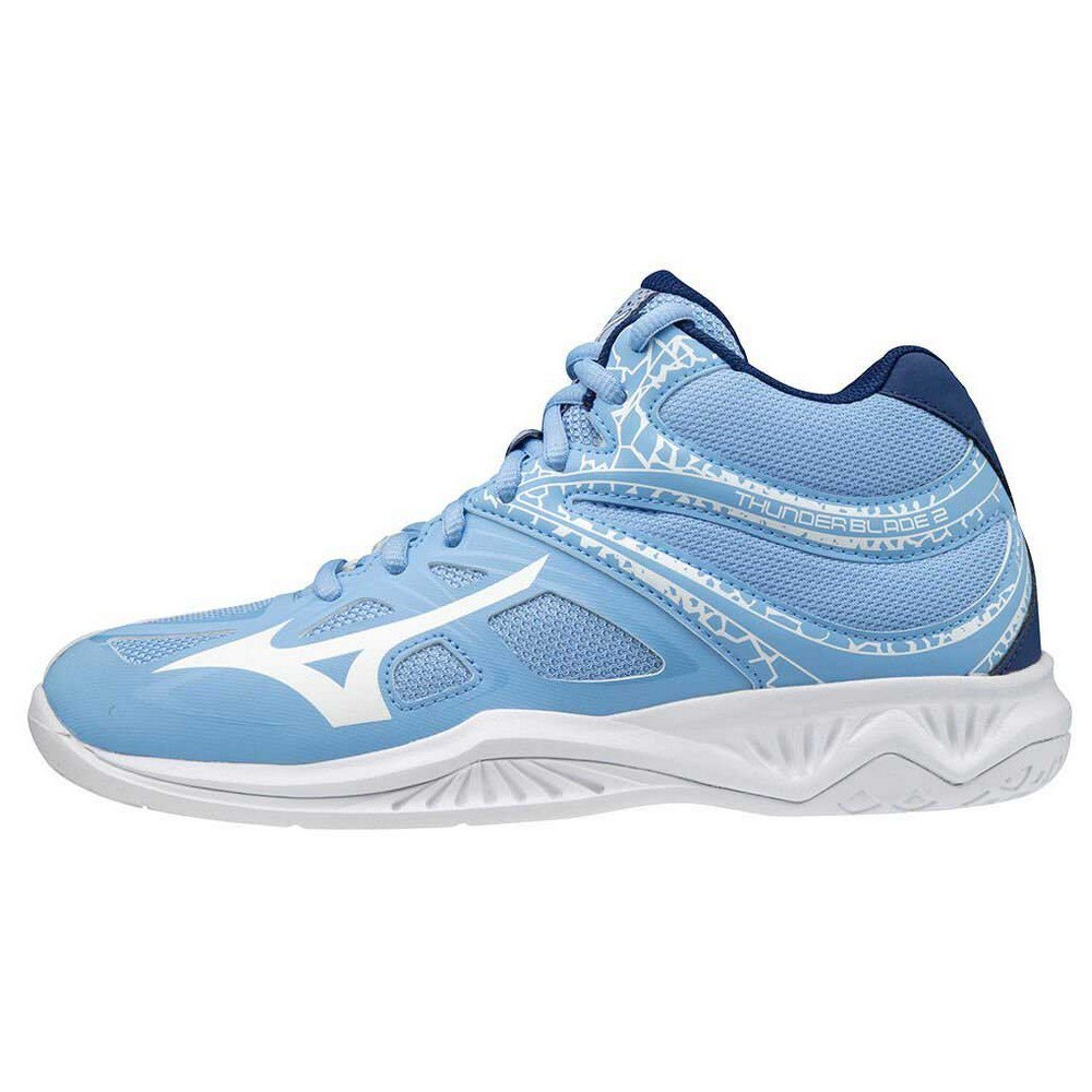 Mizuno Chaussures Thunder Blade 2 Mid EU 38 1/2 Della Robbia Blue / Snow White / 2768C