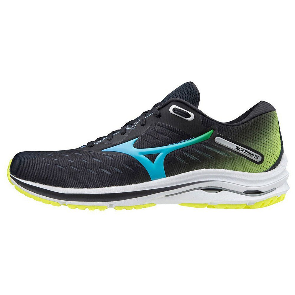 Mizuno Wave Rider 24 Osaka EU 39 Black / Blue Atoll / Yellow