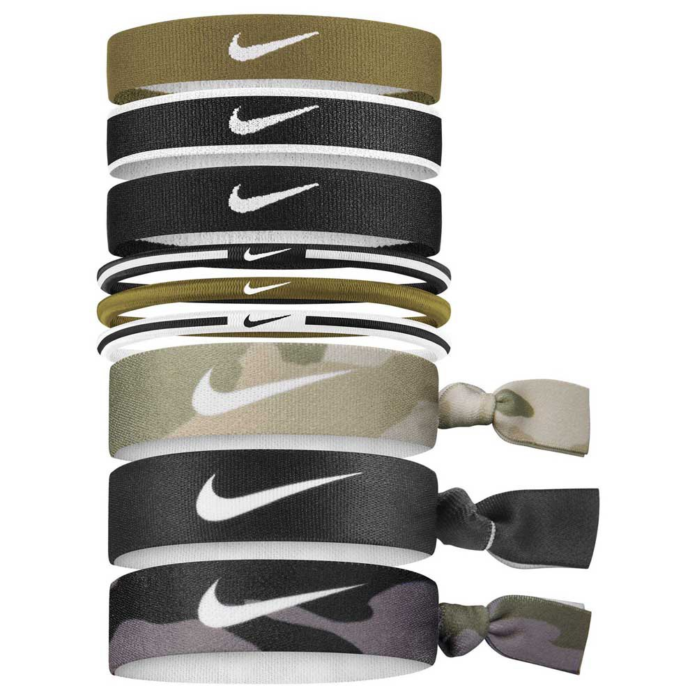 Nike Accessories Mixed Ponytail Holder 9 Units One Size Green / White / Black