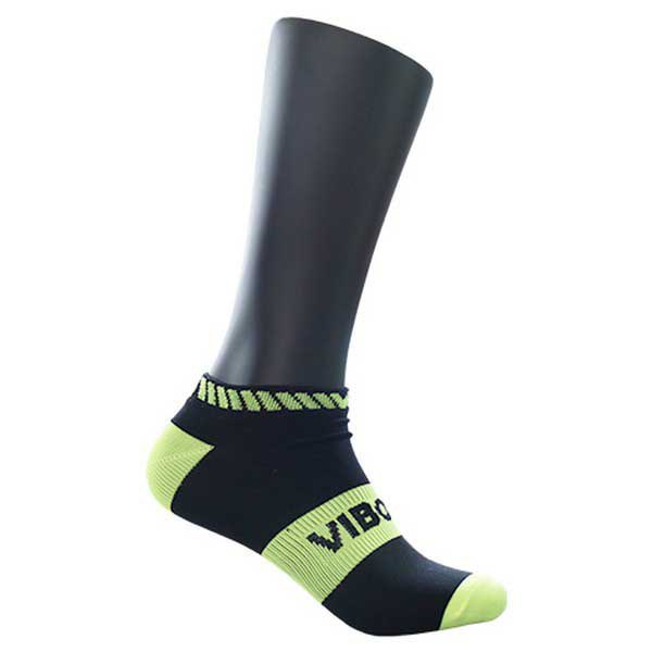 Vibora Chaussettes No Show EU 35-38 Black / Yellow Fluo