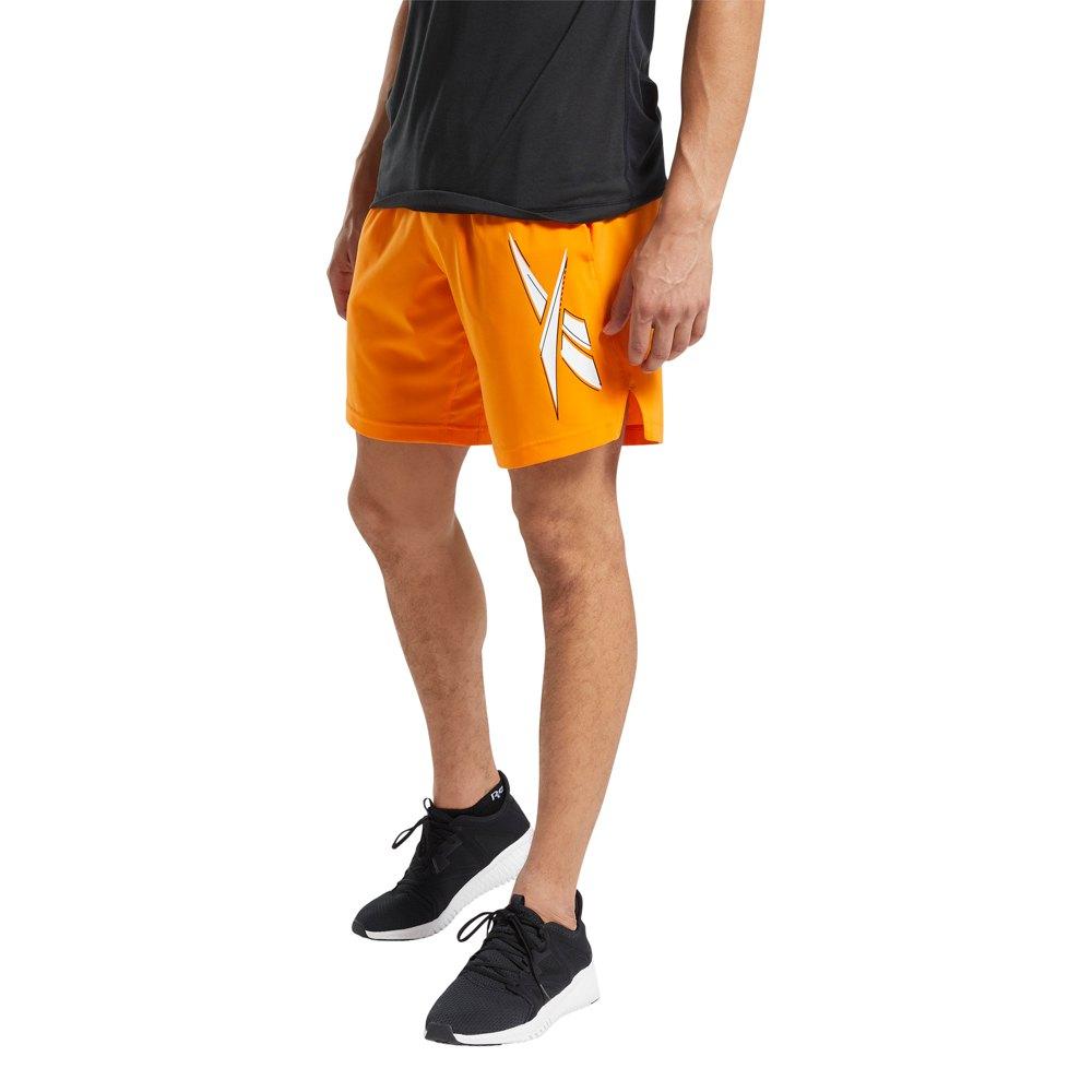 Reebok Workout Ready Woven Graphic XL High Vis Orange