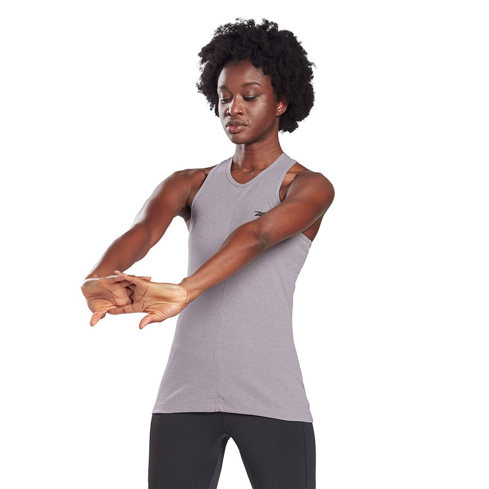Reebok T-shirt Sans Manches Les Mills® Rib M Gravity Grey