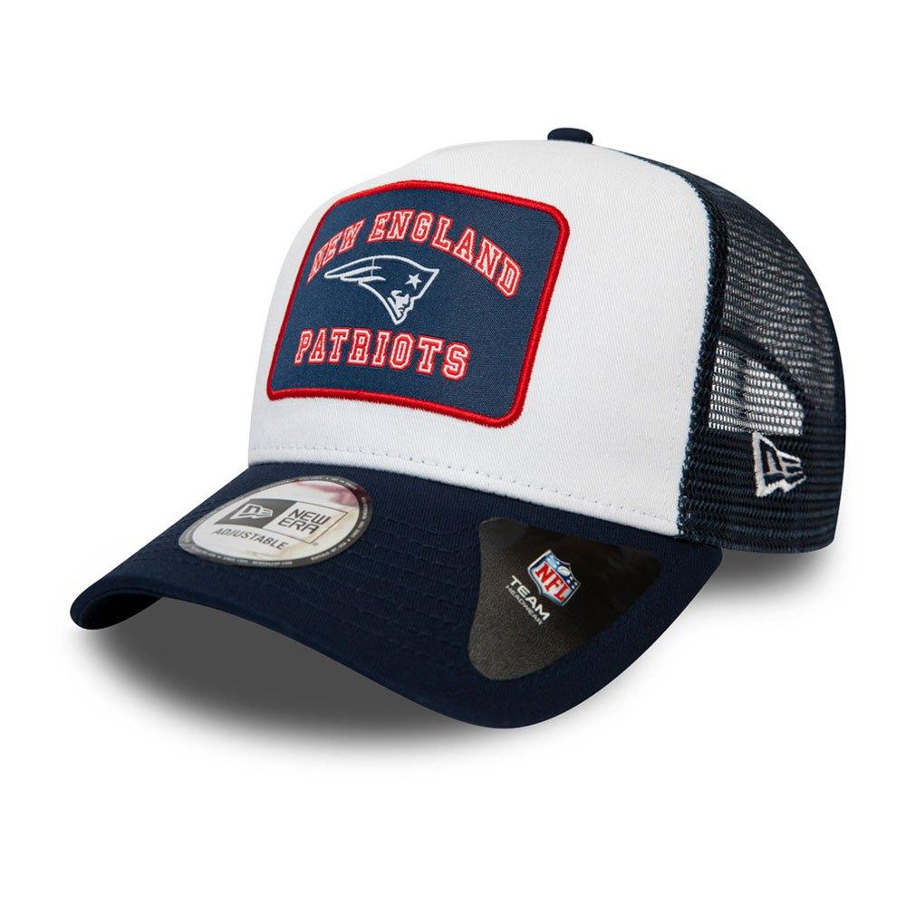 New Era Graphic Patch Trucker New England Patriots One Size Dark Blue