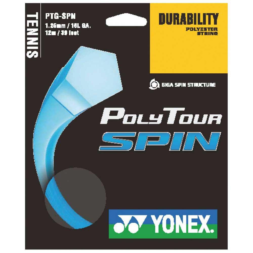Yonex Cordage Unité Tennis Polytour Spin 12 M 1.25 mm Blue