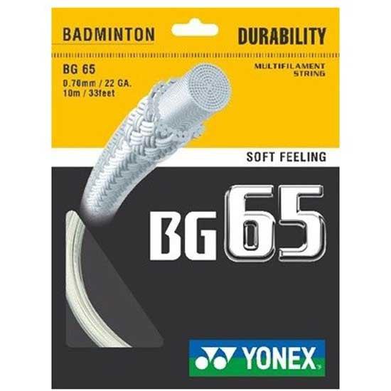 Yonex Cordage Unité Badminton Bg 65 10 M 0.70 mm White