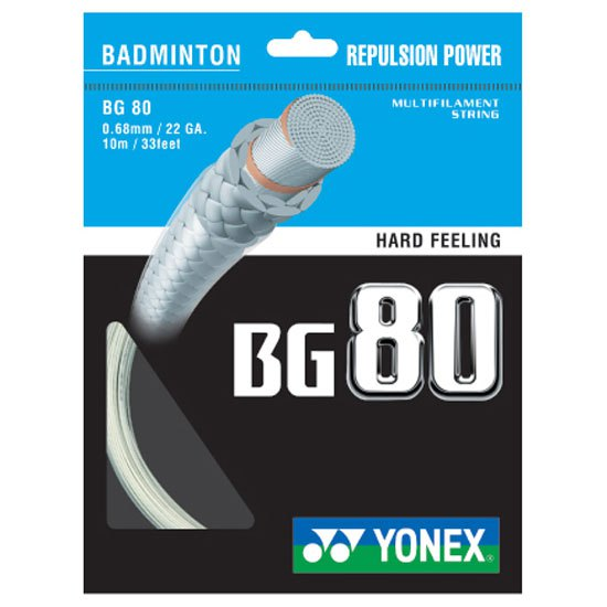 Yonex Cordage Unité Badminton Bg 80 10 M 0.68 mm White