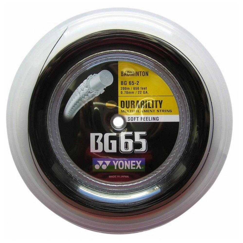 Yonex Cordage Bobine Badminton Bg 65 200 M 0.70 mm Black