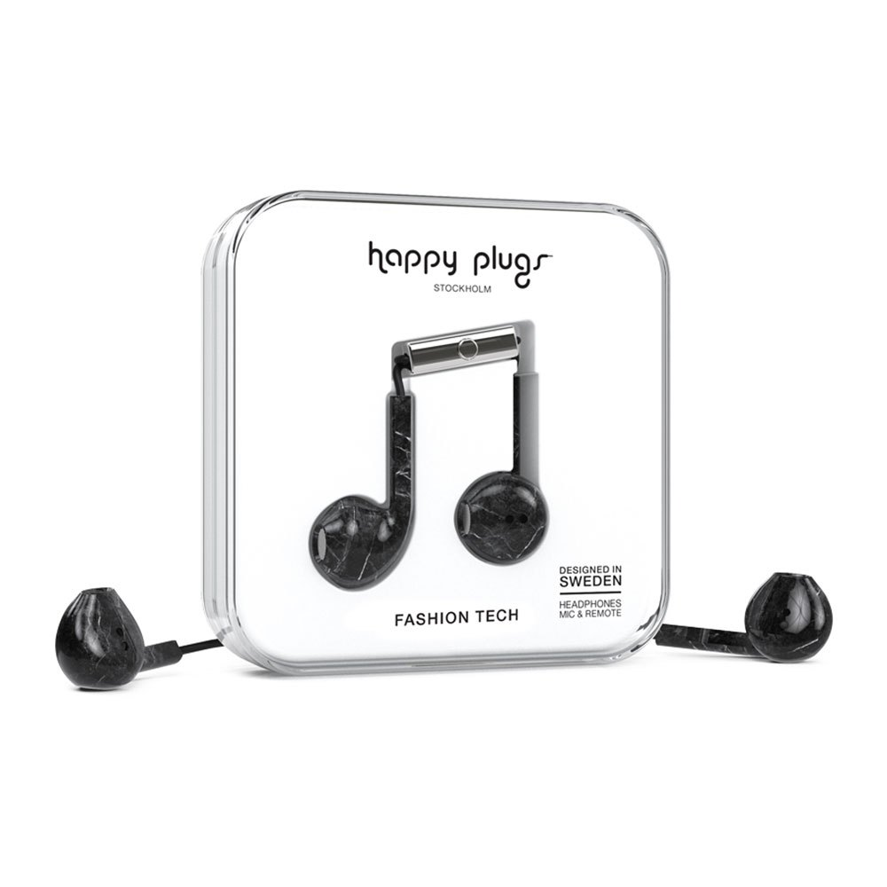 Happy Plugs Earbud Plus Wired One Size Black Marble