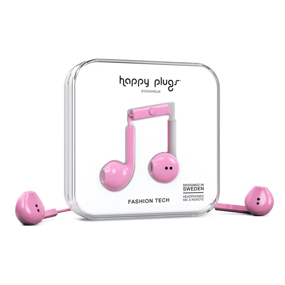 Happy Plugs Earbud Plus Wired One Size Pink