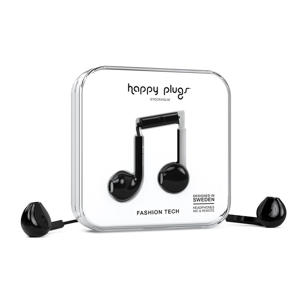 Happy Plugs Earbud Plus Wired One Size Black