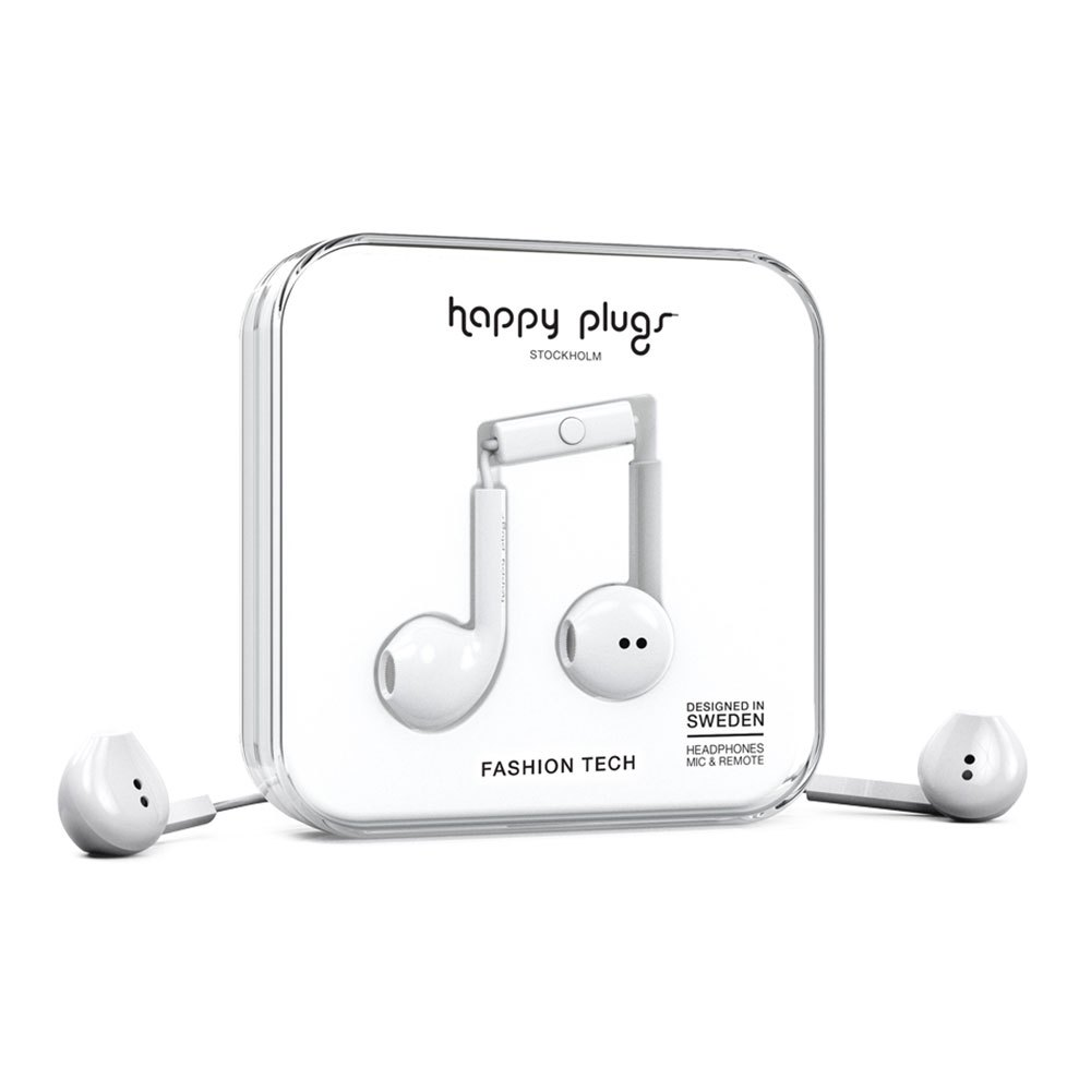 Happy Plugs Earbud Plus Wired One Size White