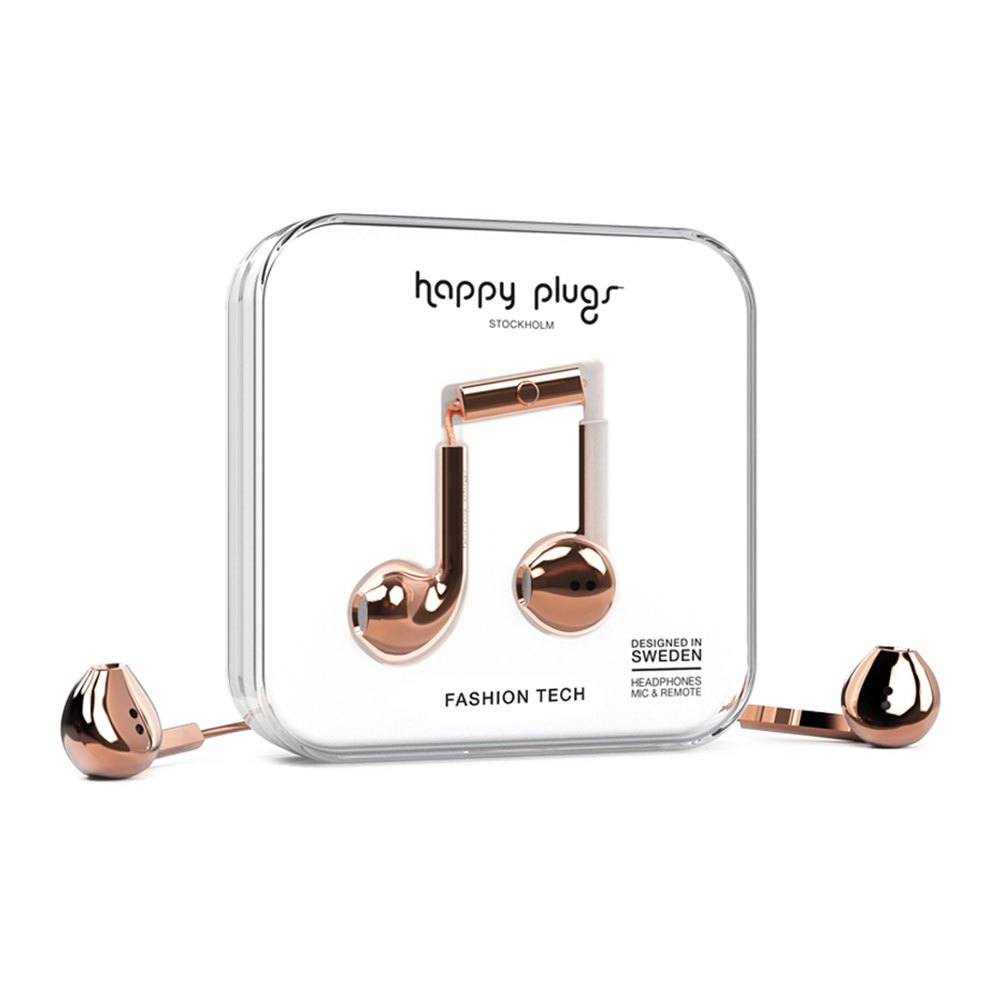Happy Plugs Earbud Plus Wired One Size Rose Gold