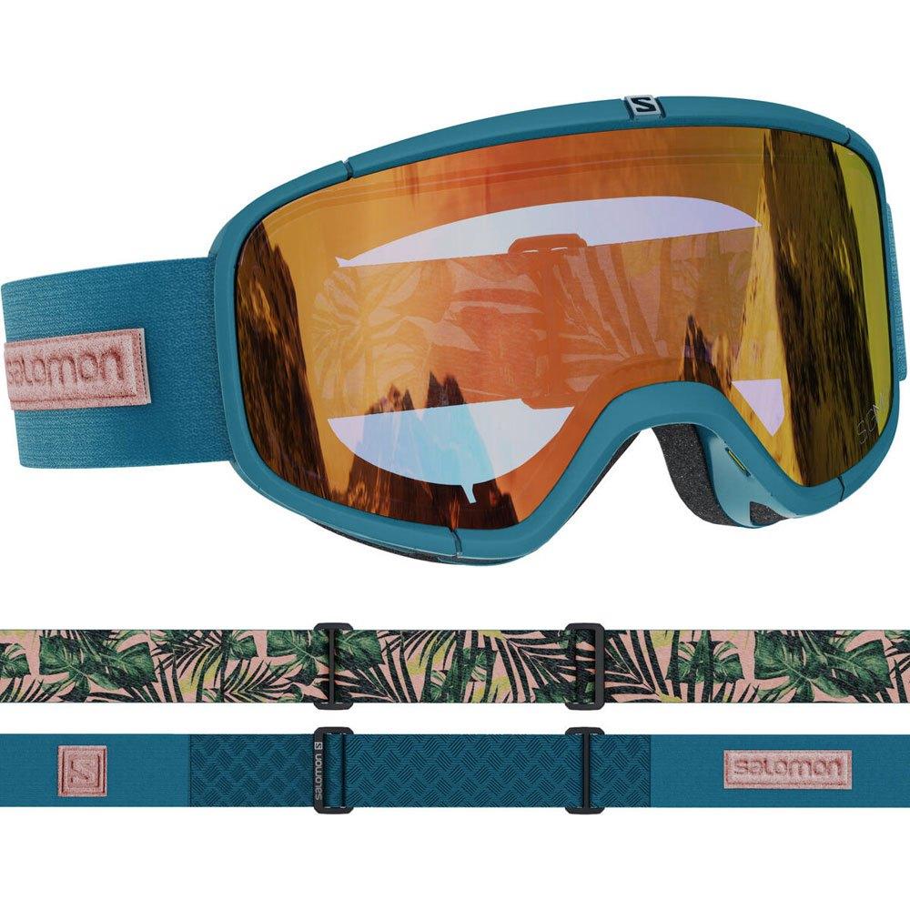 Salomon Masque Ski Four Seven Sigma Sigma Poppy Red/CAT2 Deep Teal