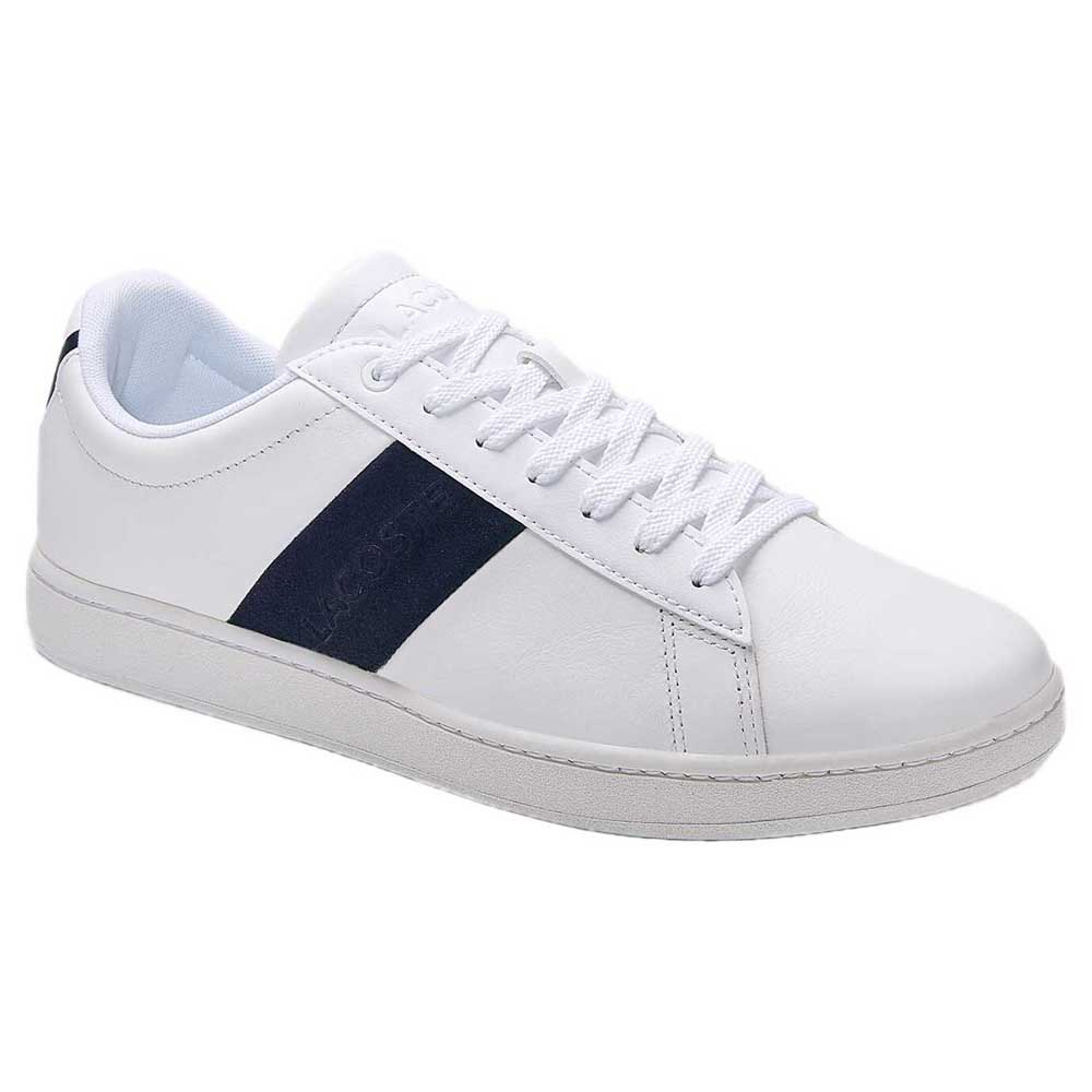 Lacoste Chaussures Carnaby Evo Cuir Pigmenté EU 45 White / Navy