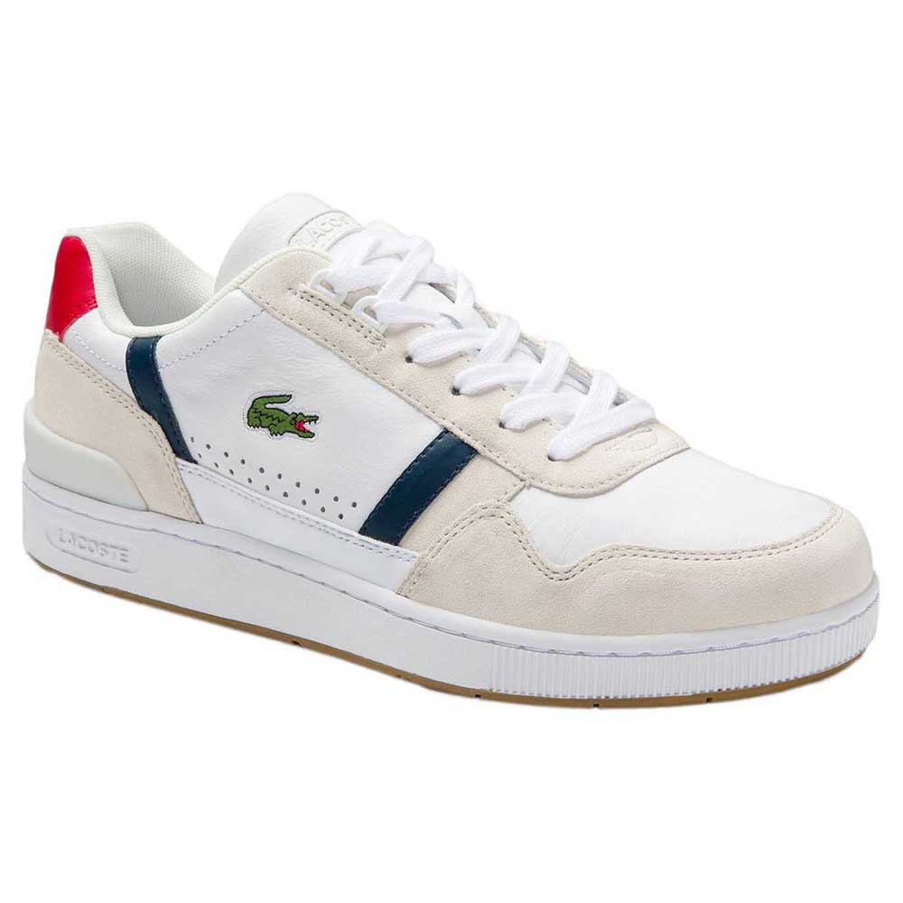 Lacoste T-clip Tricolour Leather Suede EU 42 White / Navy / Red