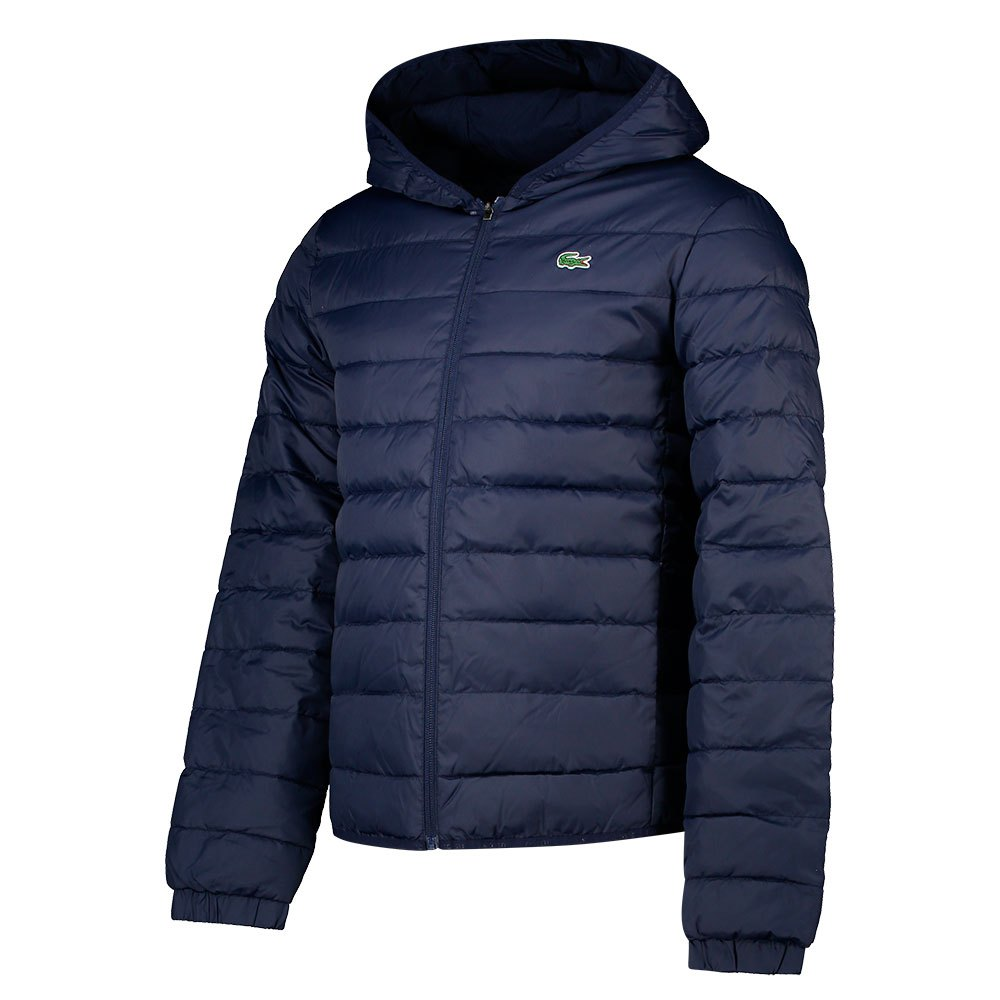 Lacoste Sport Hooded Water-resistant Quilted L-XL Navy Blue