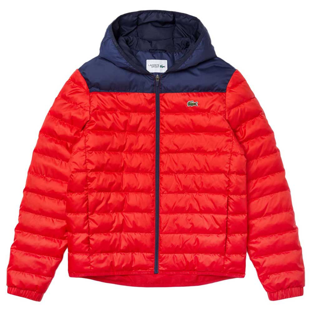 Lacoste Sport Wr Quilted 50 Red / Navy Blue