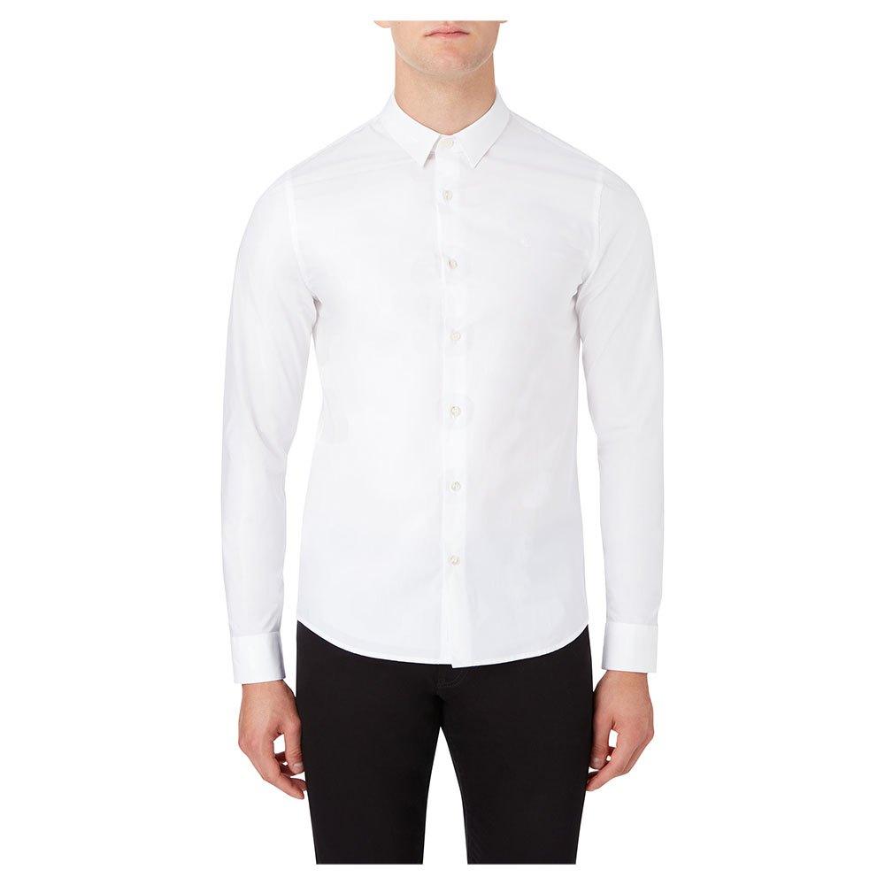 Calvin Klein Jeans Chest Logo Slim Stretch S Bright White