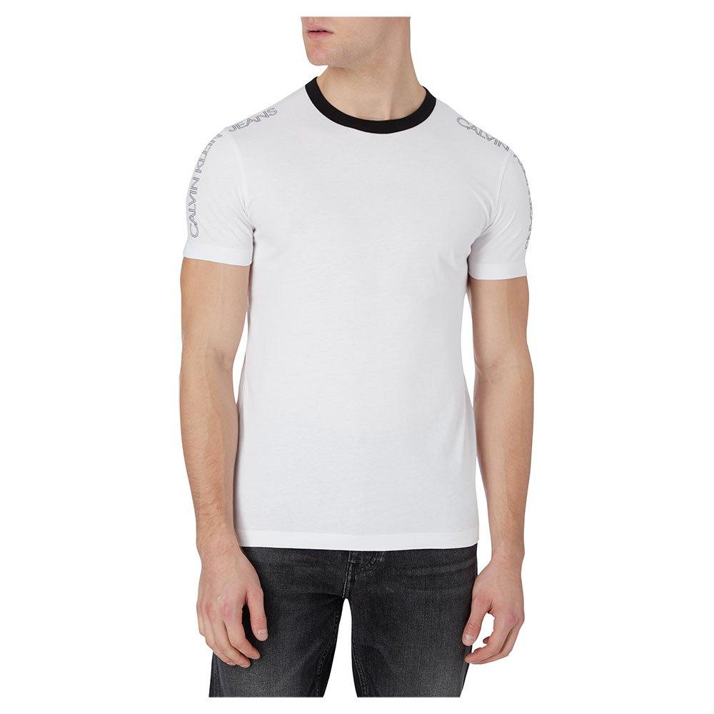 Calvin Klein Jeans Outline Logo Shoulder L Bright White