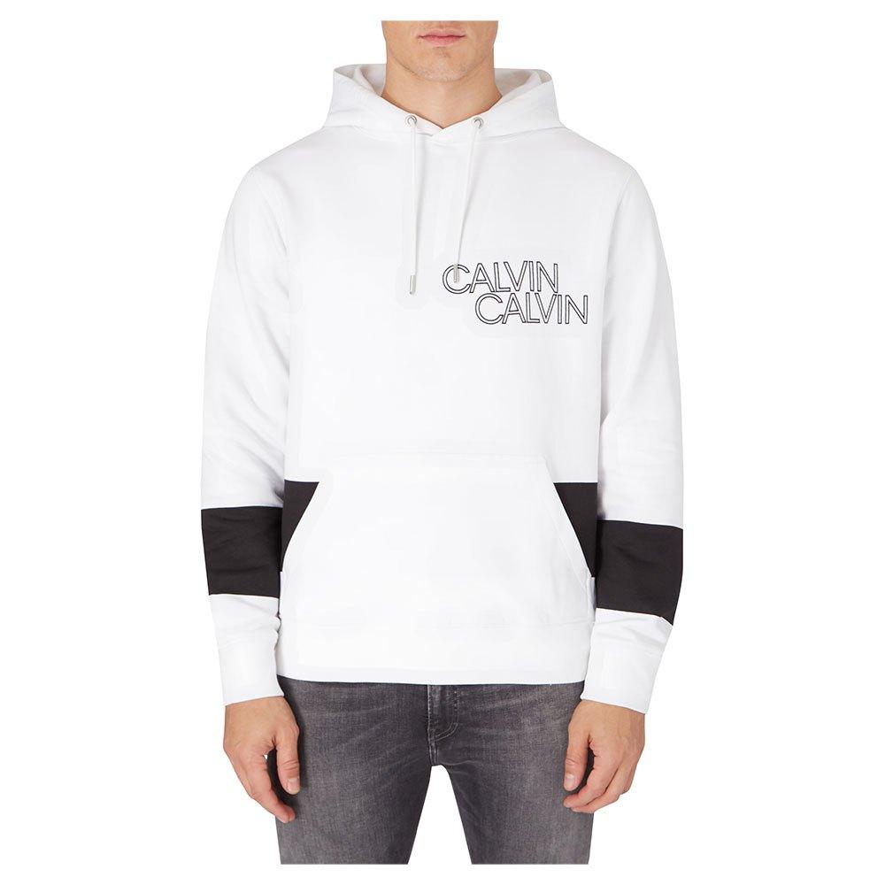 Calvin Klein Jeans Blocking Stripe Hoodie XL Bright White