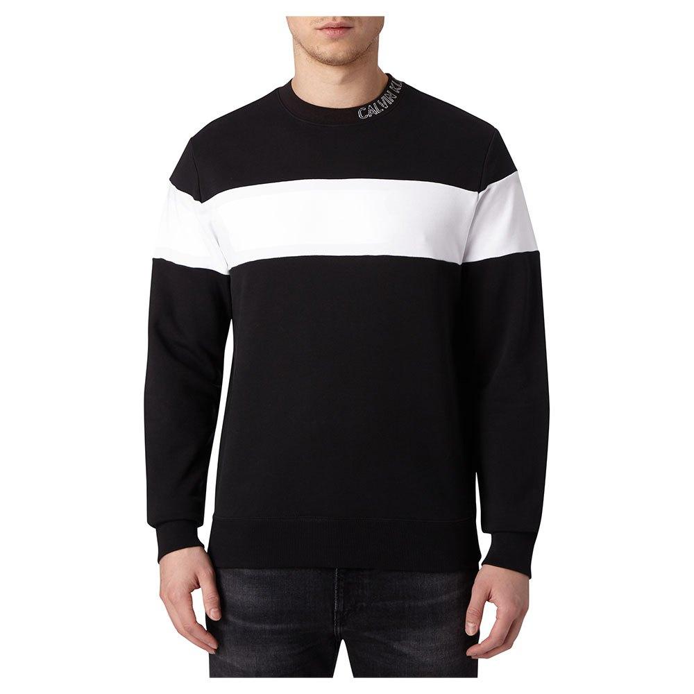 Calvin Klein Jeans Collar Logo Block Stripe L Ck Black