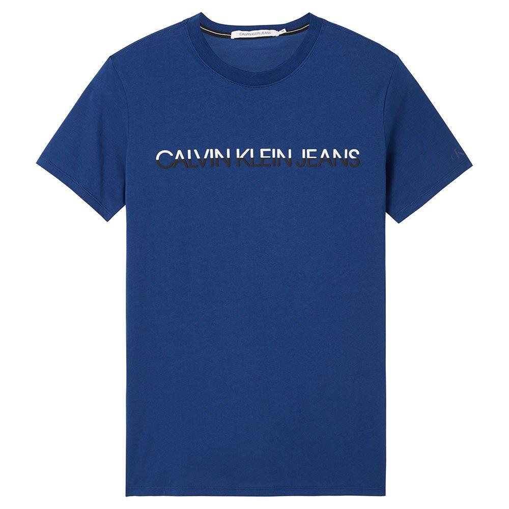Calvin Klein Jeans Mixed Technique Instit Logo S Naval Blue