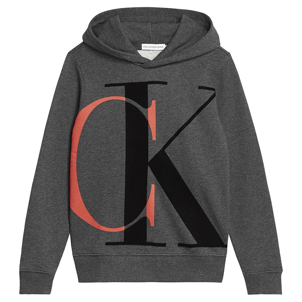Calvin Klein Jeans Ib0ib00628 Heavyweight Knits 8 Years Dark Grey Heather