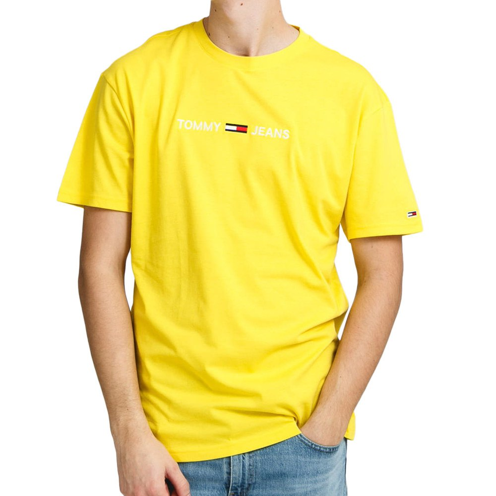 Tommy Jeans Straight Logo S Valley Yellow