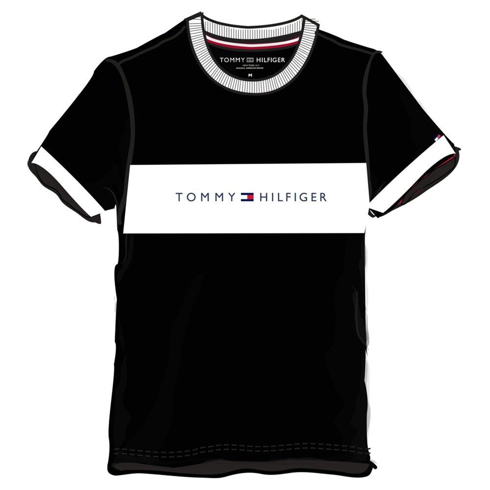Tommy Hilfiger Underwear Crew Neck Logo Flag XL Pvh Black
