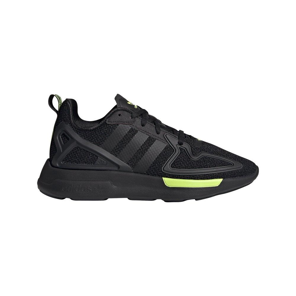 Adidas Originals Zx 2k Flux Junior EU 40 Core Black / Core Black / Solar Yellow