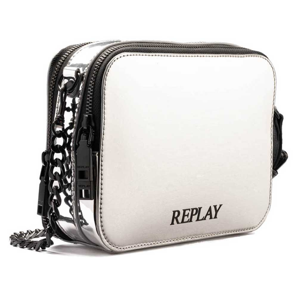 Replay Fw3973 Bag One Size Shiny Silver