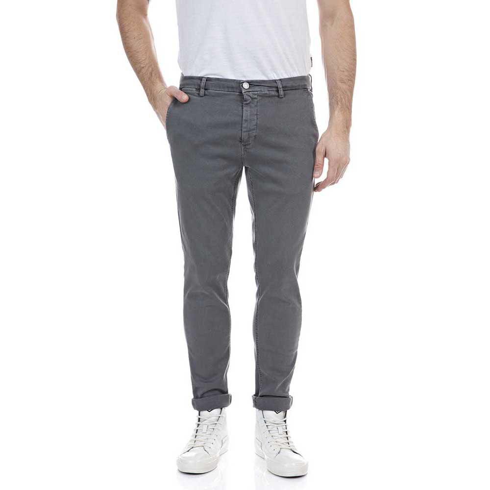 Replay M9627l Pants 31 Grey Mouse