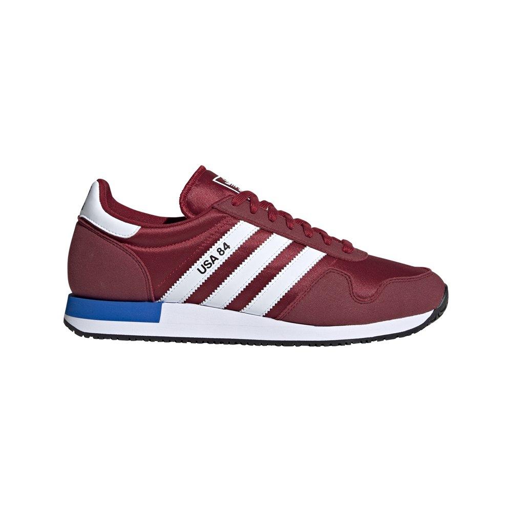 Adidas Originals Usa 84 EU 44 Collegiate Burgundy / Footwear White / Blue