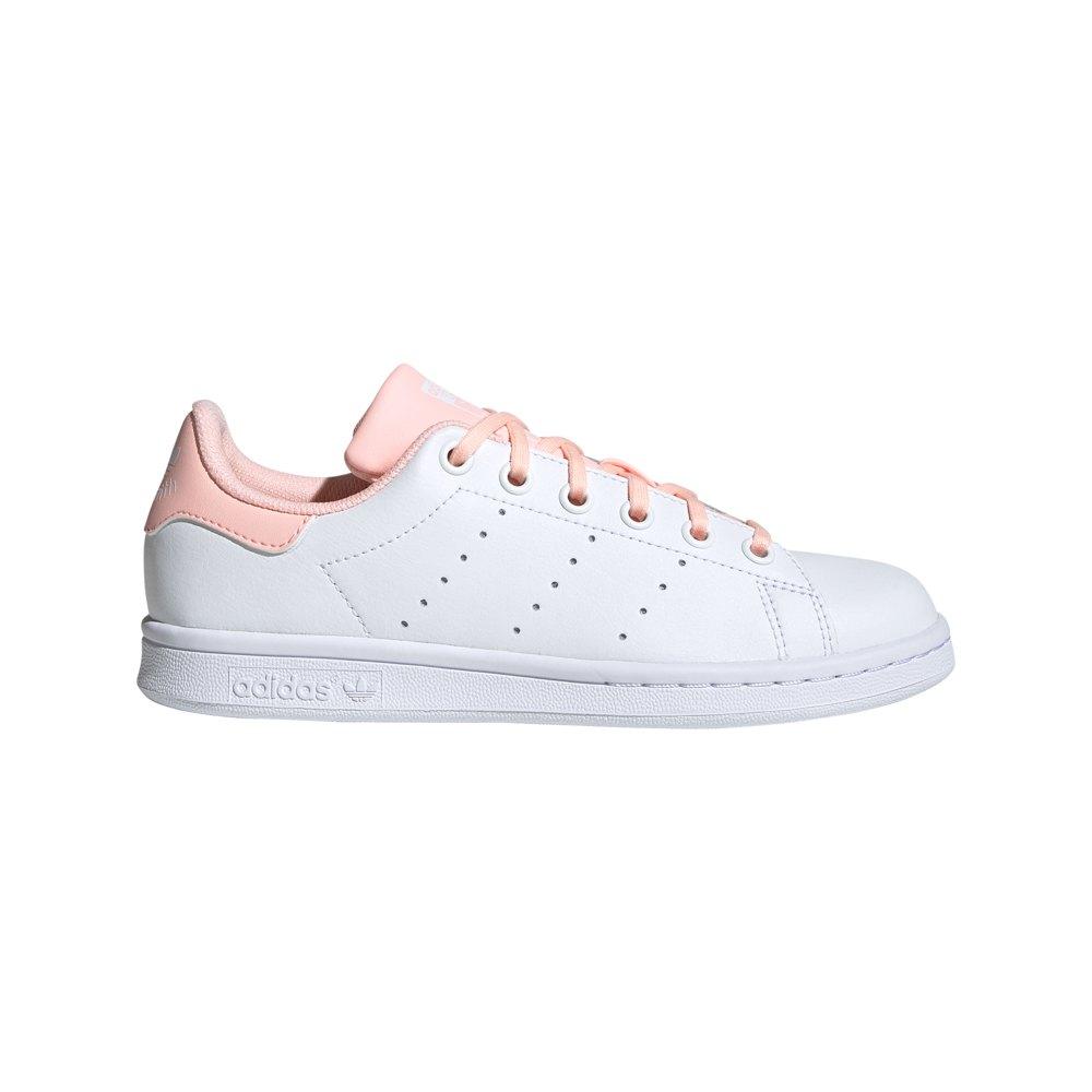 Adidas Originals Stan Smith Junior EU 35 1/2 Footwear White / Haze Coral / Haze Coral