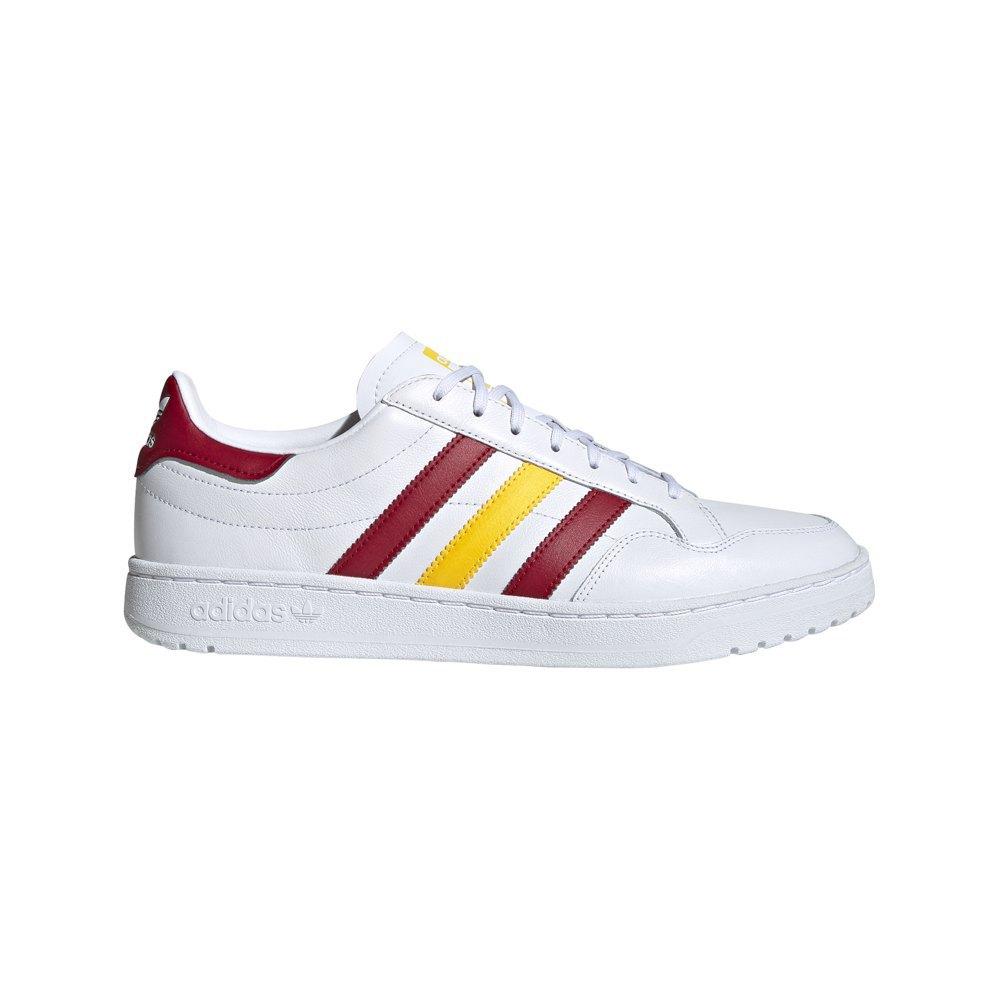 Adidas Originals Team Court EU 42 2/3 Footwear White / Collegiate Burgundy / Wonder Glow