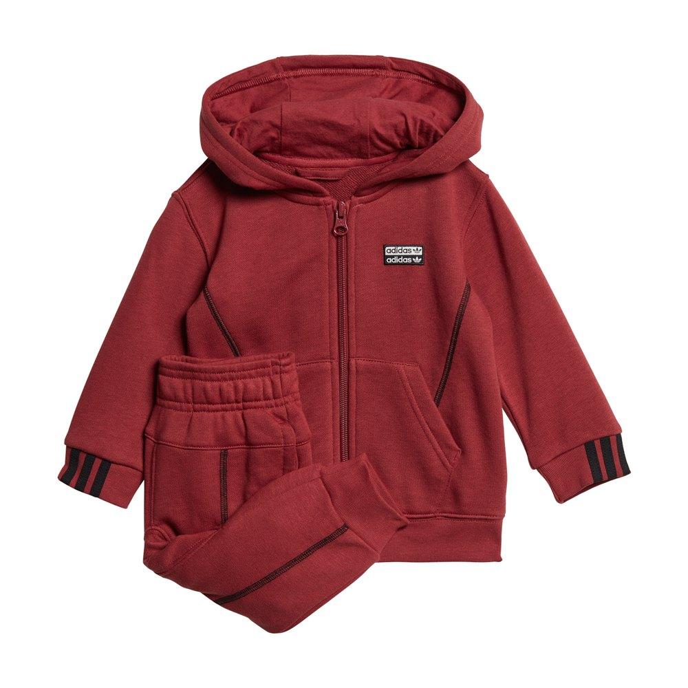 Adidas Originals Hoodie Set Infant 92 cm Legacy Red