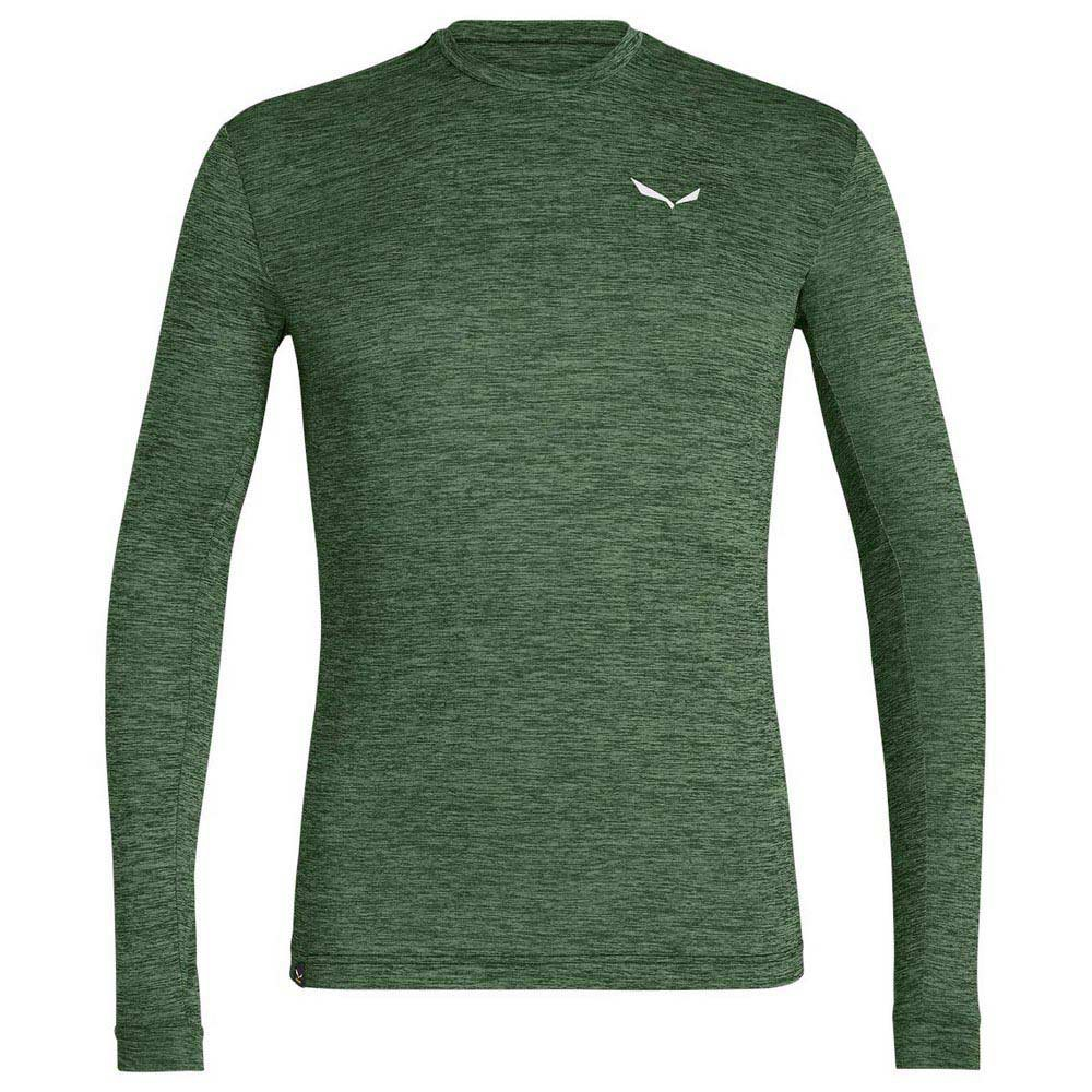 Salewa Puez Melange Dryton T-shirt Manche Longue 5XL Duck Green Melange