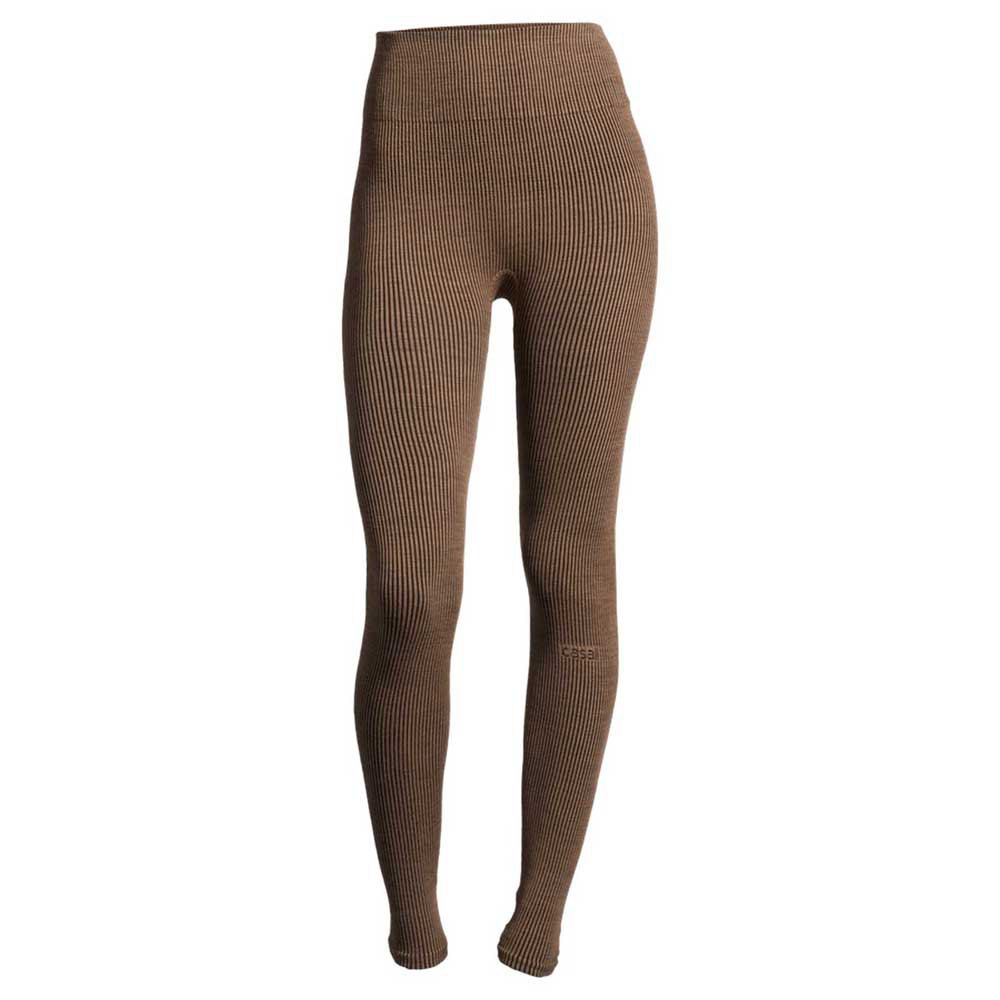 Casall Legging Wool Rib L Black Beige Rib