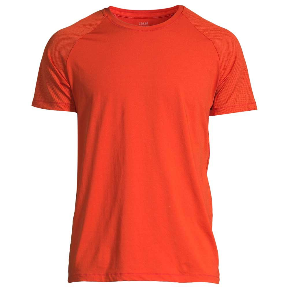 Casall Structured Short Sleeve T-shirt L Intense Orange