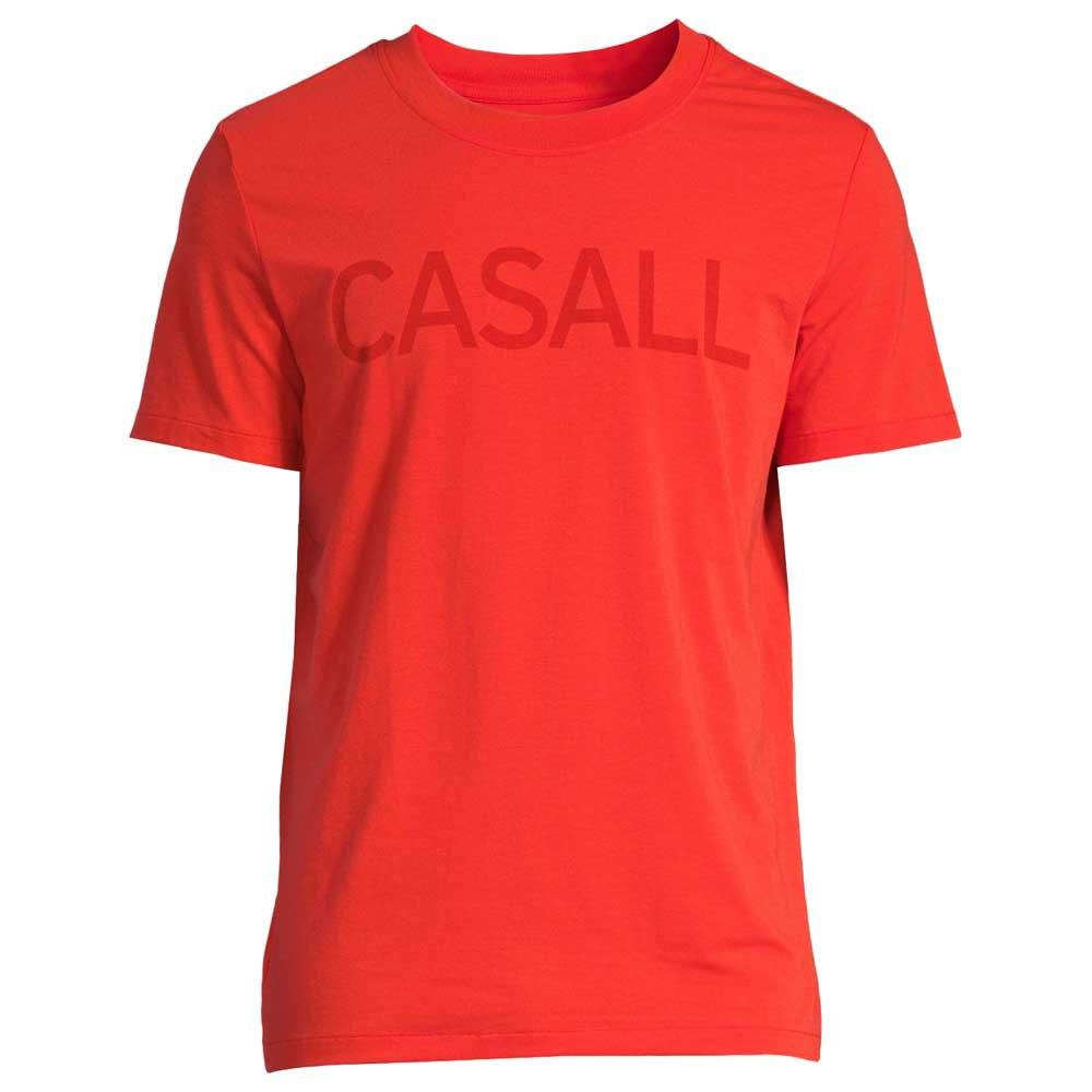 Casall T-shirt Manche Courte Logo L Intense Orange
