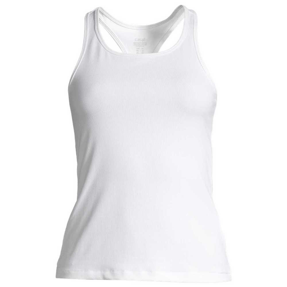 Casall T-shirt Sans Manches Classic Rib 34 White