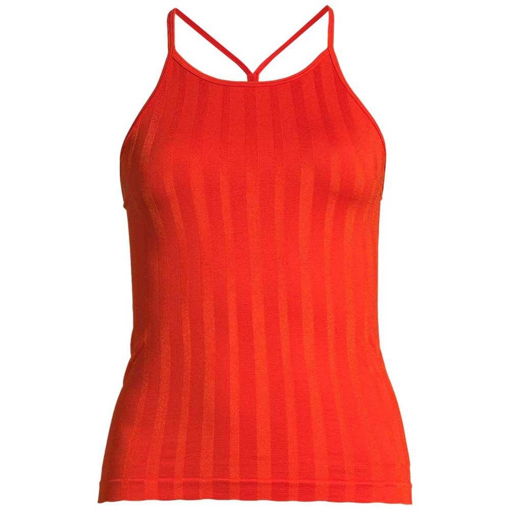 Casall Shiny Matte Seamless Strap L Intense Orange