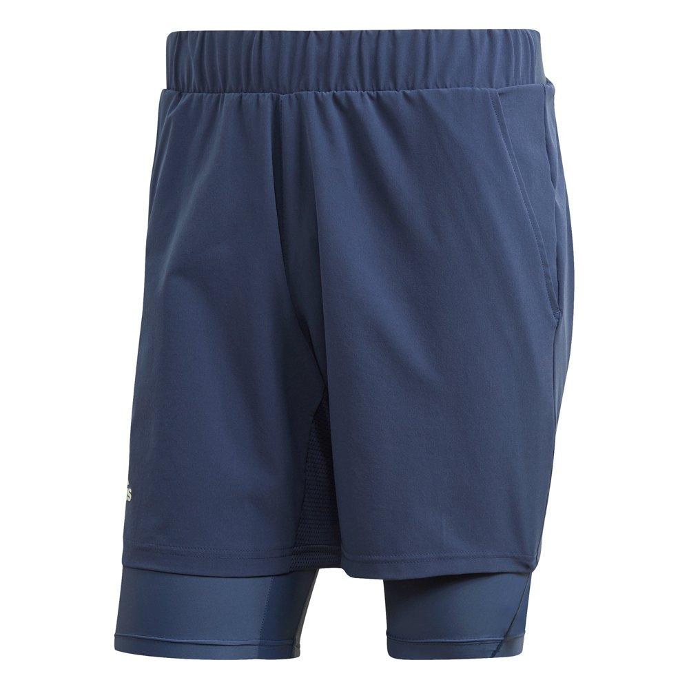Adidas Short 2 In 1 Heat.rdy 7´´ S Tech Indigo / Dash Green
