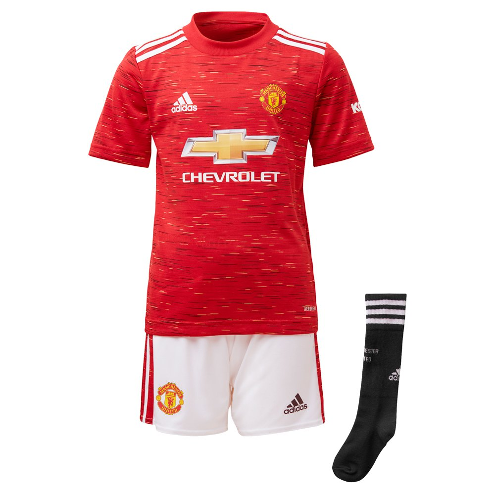 Adidas Manchester United Fc Home Mini Kit 20/21 116 cm Real Red / White