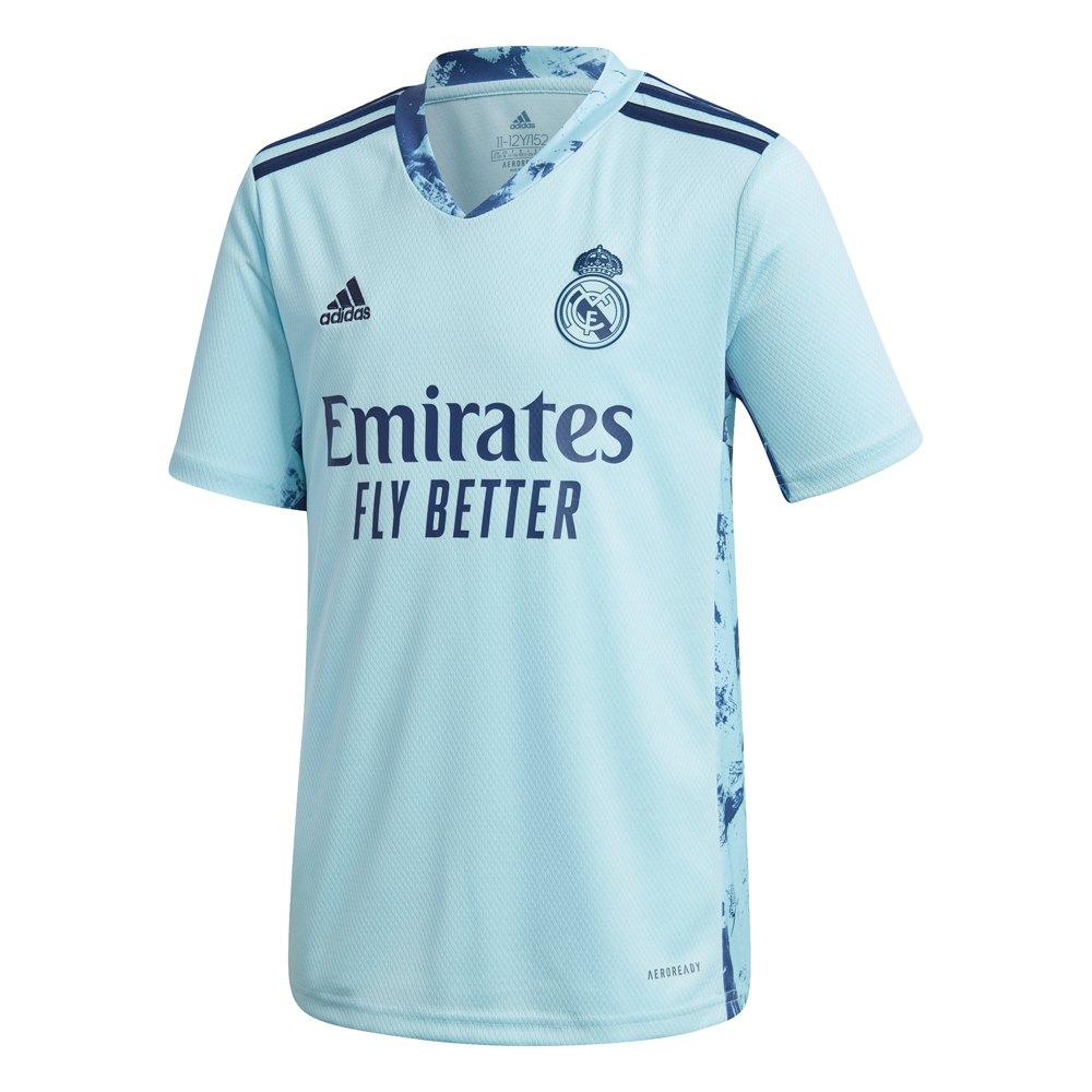 Adidas T-shirt Real Madrid Domicile 20/21 Junior 164 cm Icey Blue
