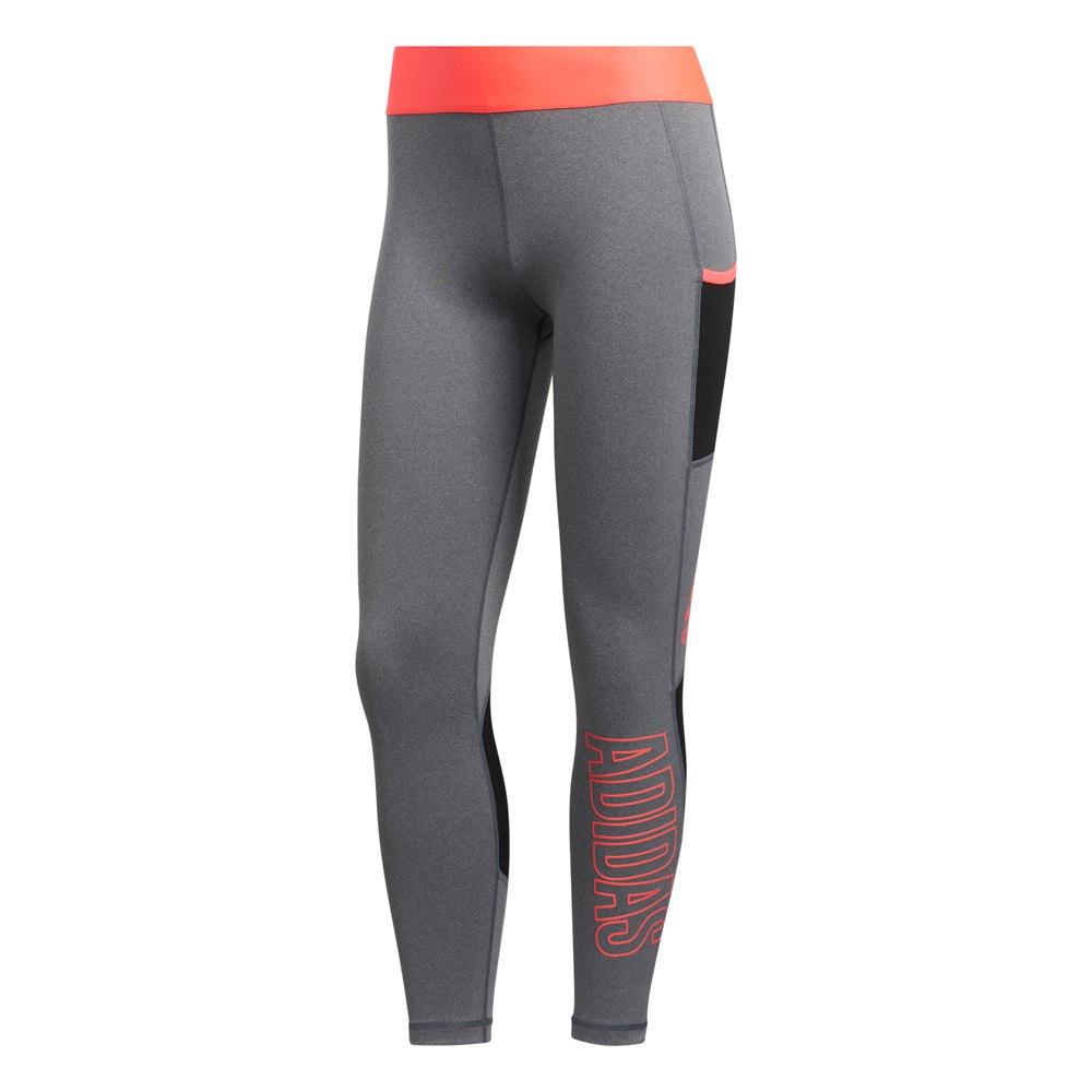 Adidas Alpha Skin 7/8 XS Dark Grey Heather / Signal Pink
