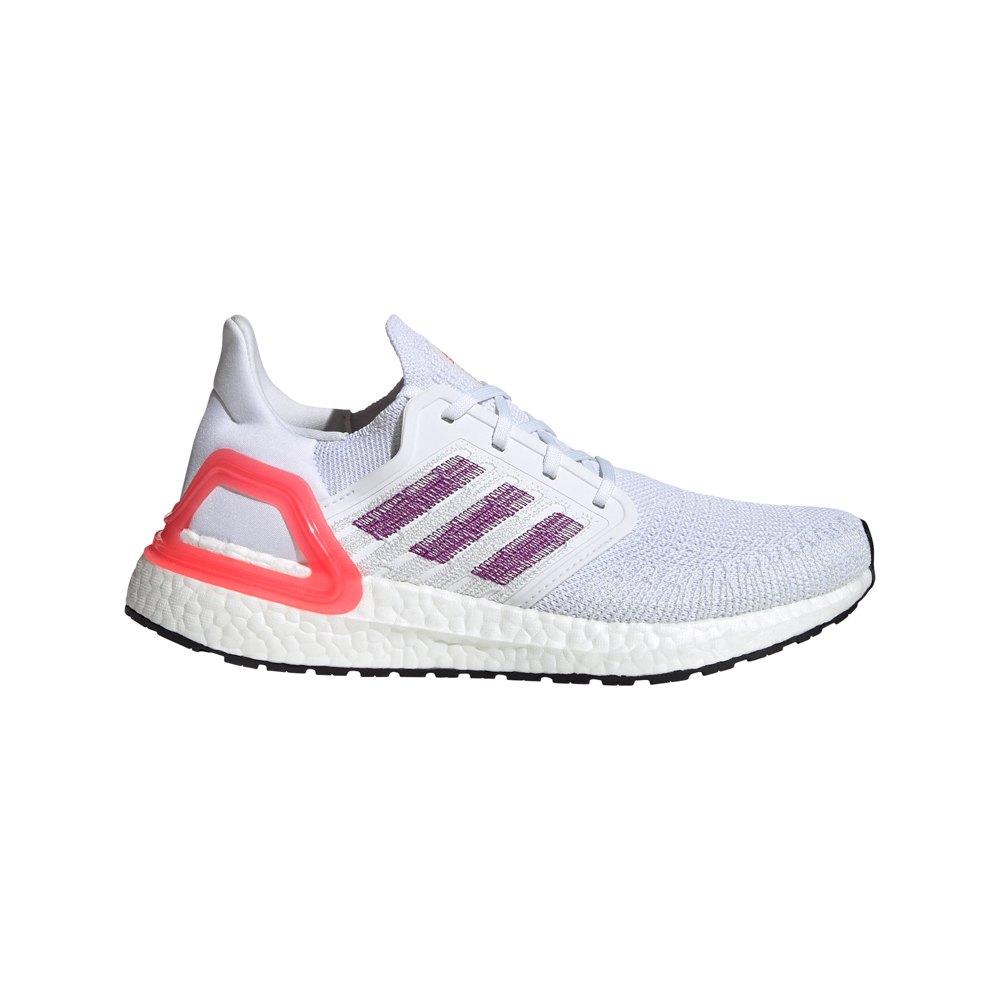 Adidas Ultraboost 20 EU 38 2/3 Ftwr White / Glory Purple / Shock Red